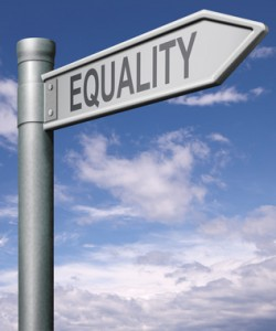 Equality street sign