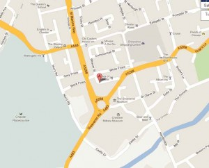 Map of 17 Cuppin Street, Chester, CH1 2LF